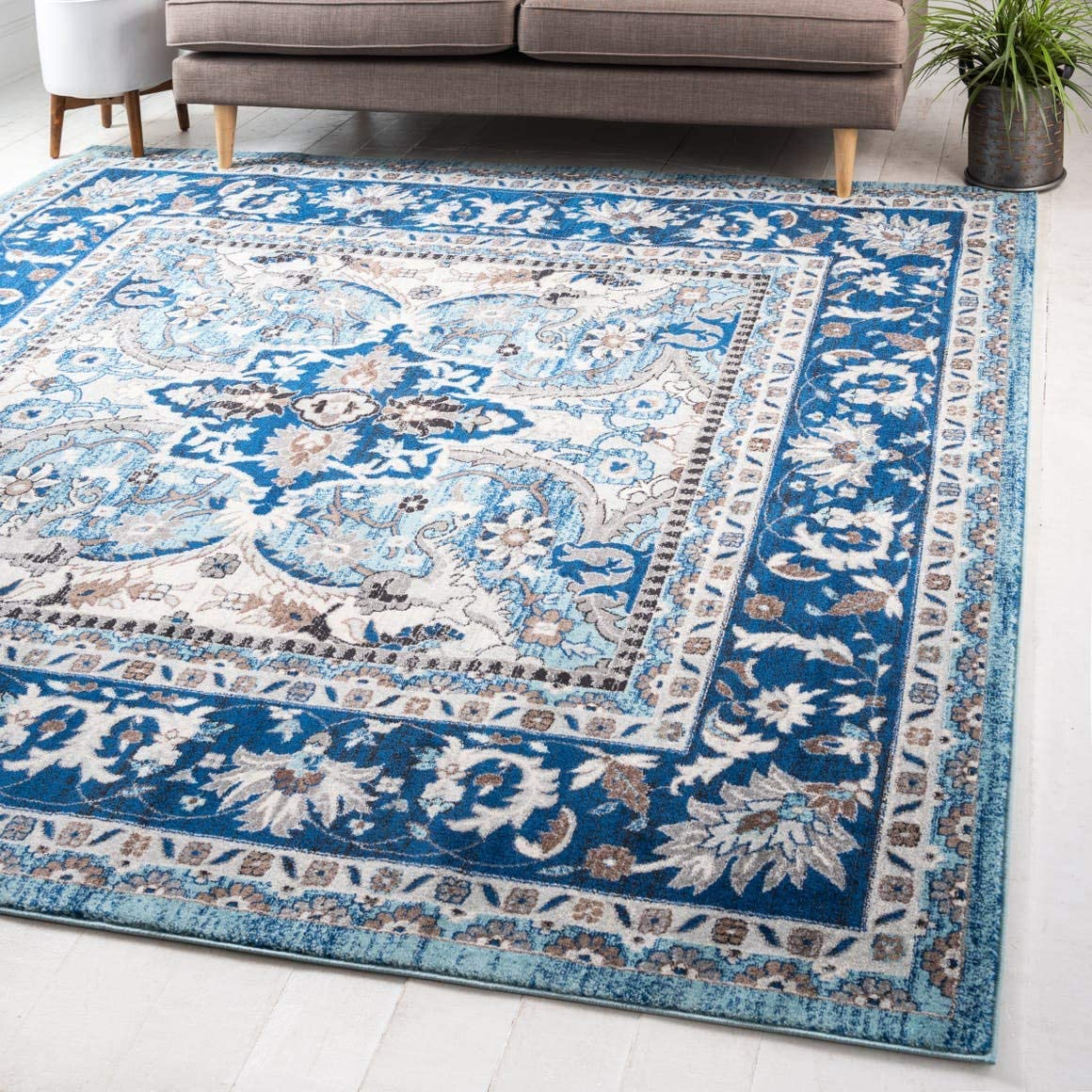 Unique Loom Tradition Collection Classic Southwestern Blue Square Rug 8 4 x 8 4