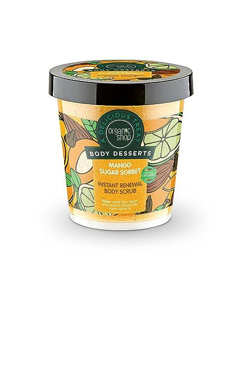 Organic Shop Exfoliante Corporal Renovación Instantánea Sorbete de Azúcar de Mango - 450 ml