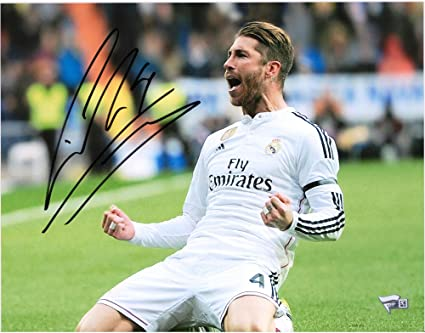 7c1b177310a Image Unavailable. Image not available for. Color  Sergio Ramos Real Madrid  Autographed ...