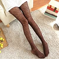 Darin Woman Loving Wave Sexy Lace Stockings Breathable Hollow Jacquard Stockings Pantyhose Female Fishnet Stockings
