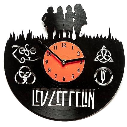 Vinilo Decoración Led Zeppelin Relojes Para Cocina