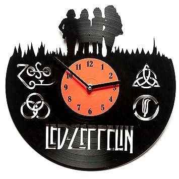 vinyl decoration led zeppelin clocks for kitchen unique kitchen wall clocks decorative clock