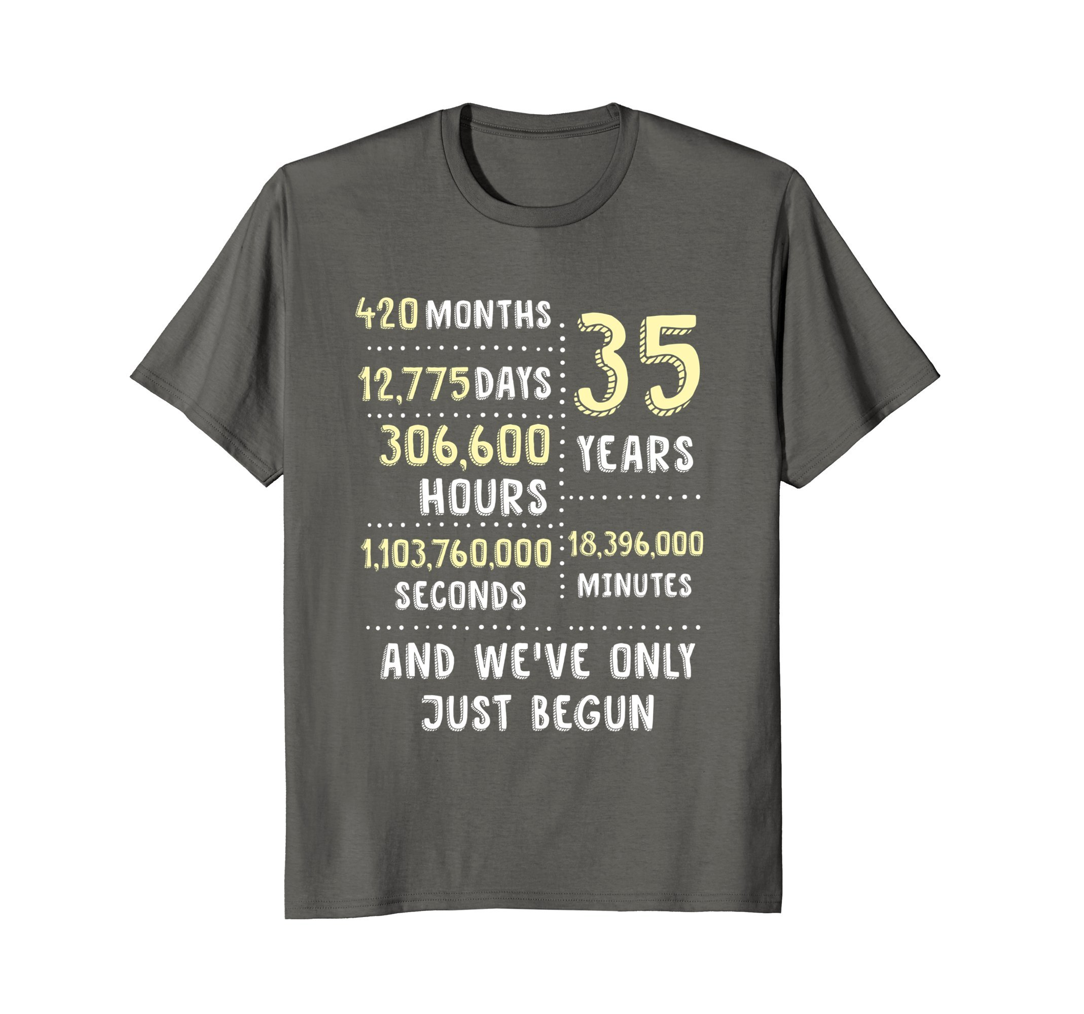 35 Years Wedding Anniversary (Coral, Jade) Tee Gift for Her