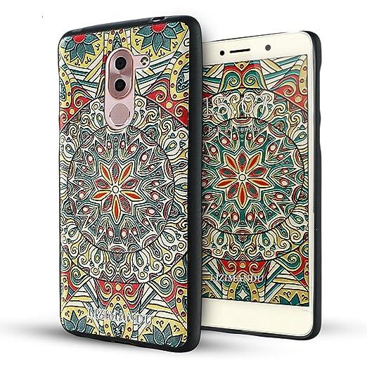 9 opinioni per Huawei Honor 6x Cover,Lizimandu Creative 3D Schema UltraSlim TPU Copertura Della