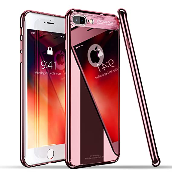 iphone 8 case mirror rose gold