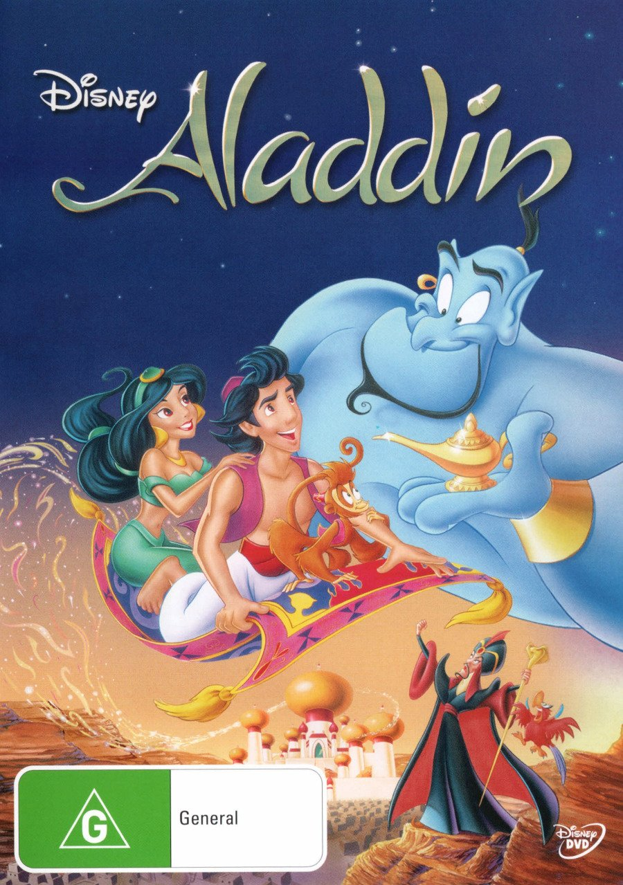 Aladdin | Disney's | Voiced by Robin Williams | NON-USA Format | PAL | Region 4 Import - Australia