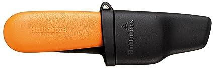 Hultafors 380030 Cuchillo electricista especial para pelar cables de 158 mm (incluye funda para el cinturón de plástico extra resistente)