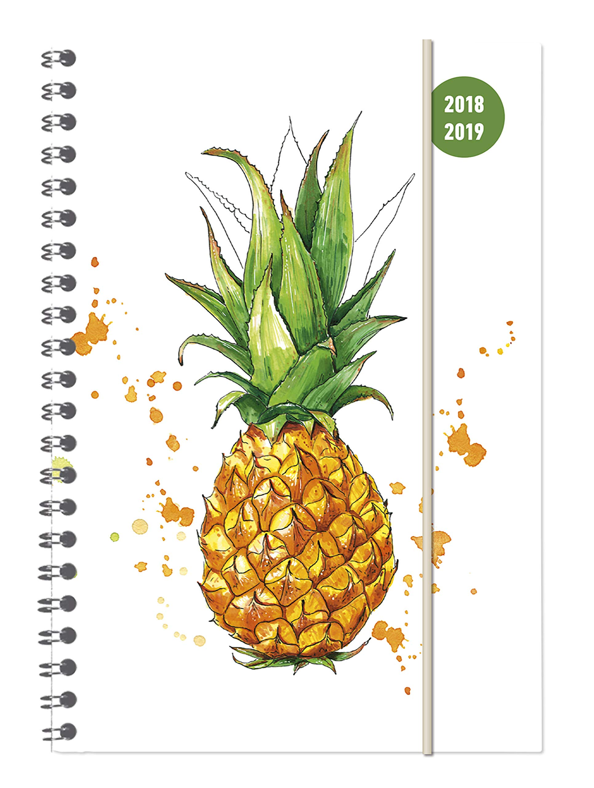 Collegetimer A5 Woche Pineapple Ringbuch 2018/2019