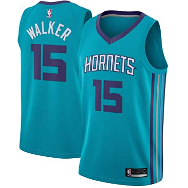 ab788db4711 Amazon.com: Kemba Walker Charlotte Hornets Swingman #15 Jersey Teal Icon  Edition: Clothing