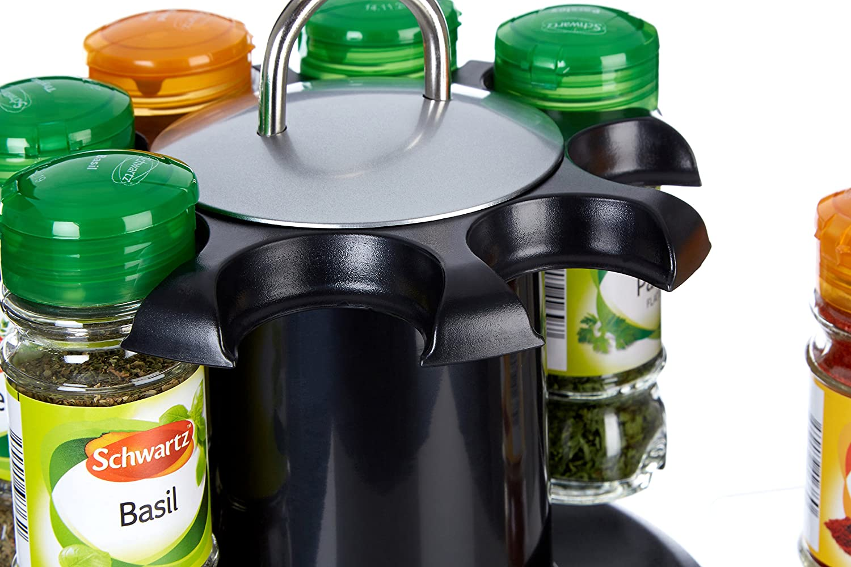 Premier Housewares Spice Rack with 8 Schwartz Spices