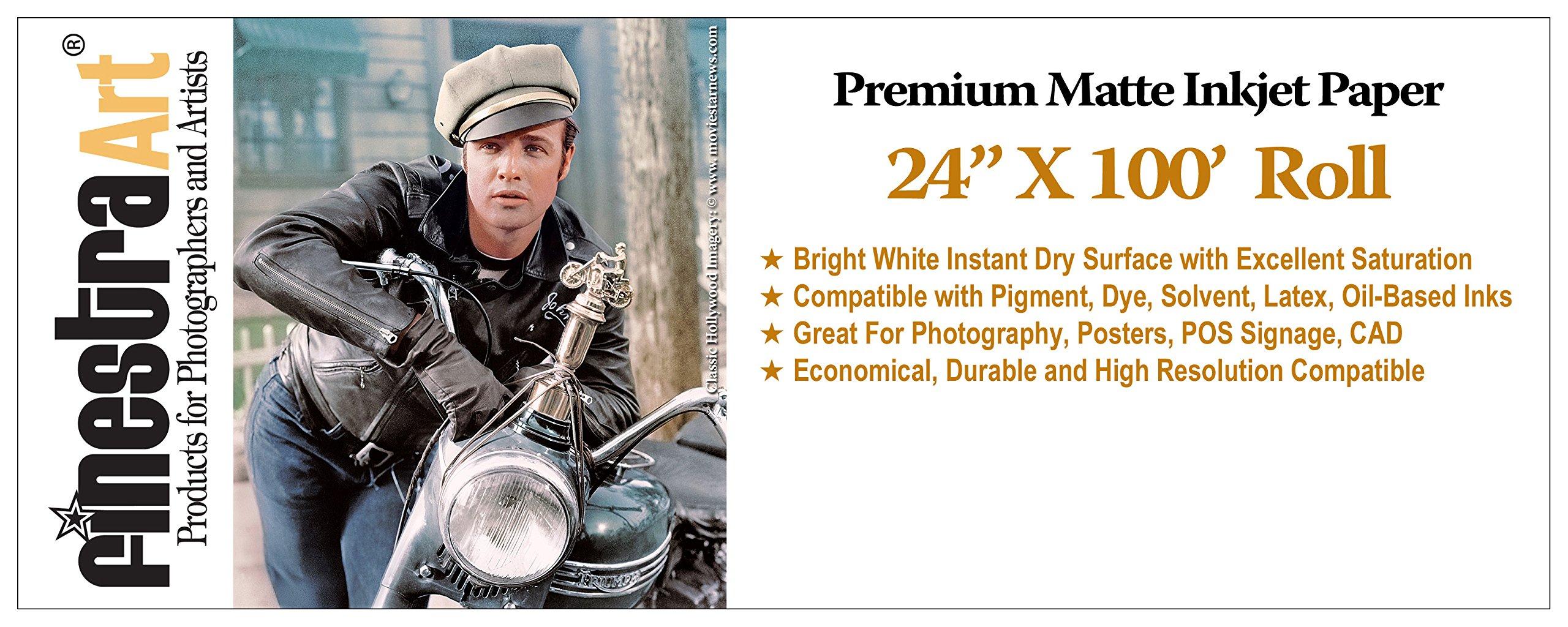 24x100 Ft Roll Premium Arctic Matte Inkjet Photo Paper 230gsm [Office Product]
