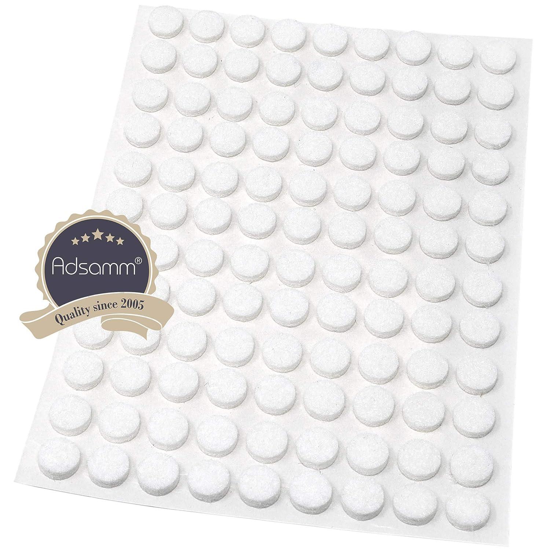 108 x Filzgleiter 3.5 mm starke selbstklebende Filz-M/öbelgleiter in Top-Qualit/ät /Ø 10 mm rund Wei/ß