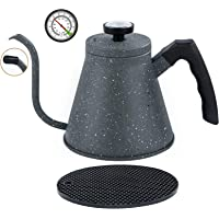 KOTEFFR Tea Kettle for Induction and all Stovetops - 40oz/1.2L with Precise Gooseneck Spout and Built-In Thermometer…