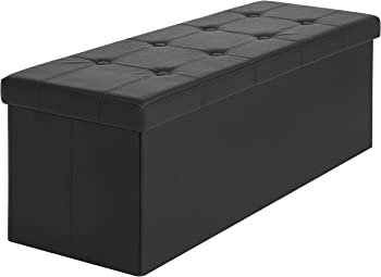 Best Choice Products Faux Leather Folding Storage Ottoman