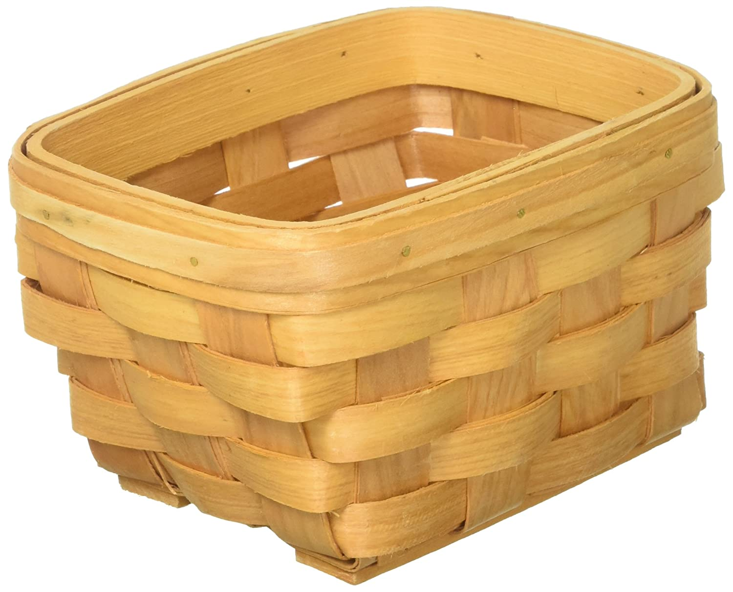 Darice 6.5 by 4.5 inch, Rectangle Wood Country Basket 2848-25