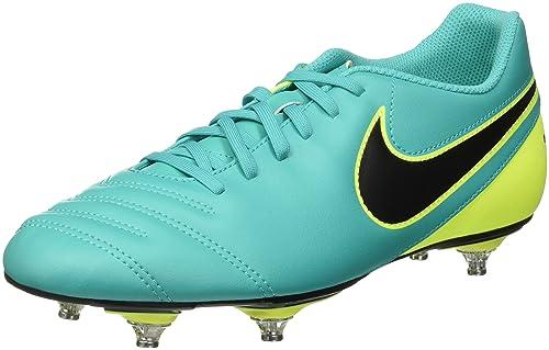 huge selection of 60c68 5ec26 Nike Tiempo Rio Iii Sg, Botas de Fútbol, Hombre, Multicolor (Clear  Jade Black-Volt), 44.5  Amazon.es  Zapatos y complementos