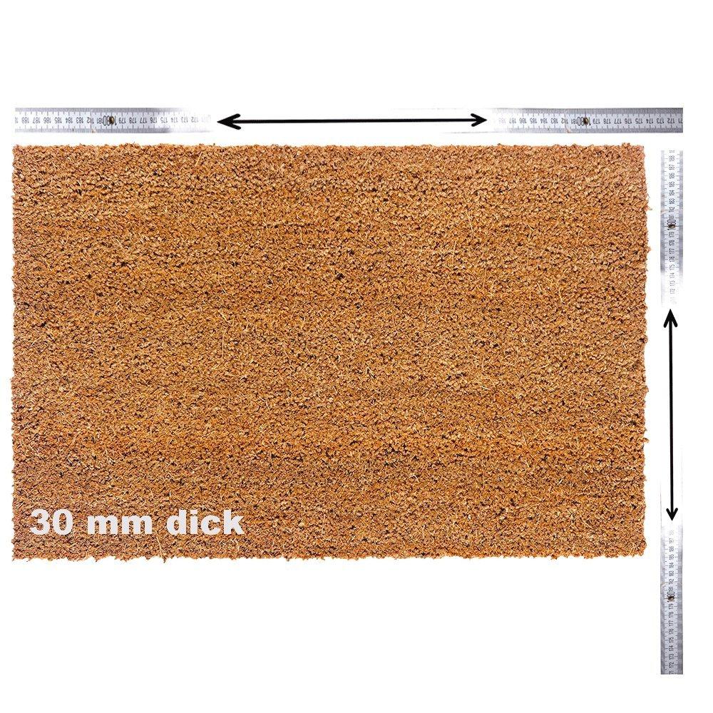 Kokosmatte nach Maß   Kokos Fußmatte mit Zuschnitt auf auf auf Maß   Stärke  30 mm, Breite  40-100 cm, Länge  60-300 cm   ab 56,13 € (93,55 € m²)   ausgewählt  40-60 cm breit, 60-100 cm lang B07L5KCYM7 Fumatten 14a921