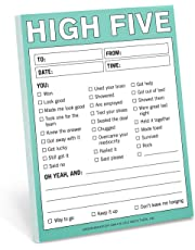 Knock Knock High Five Nifty Note, Checklist Memo Pad, 4 x 5.25-inches