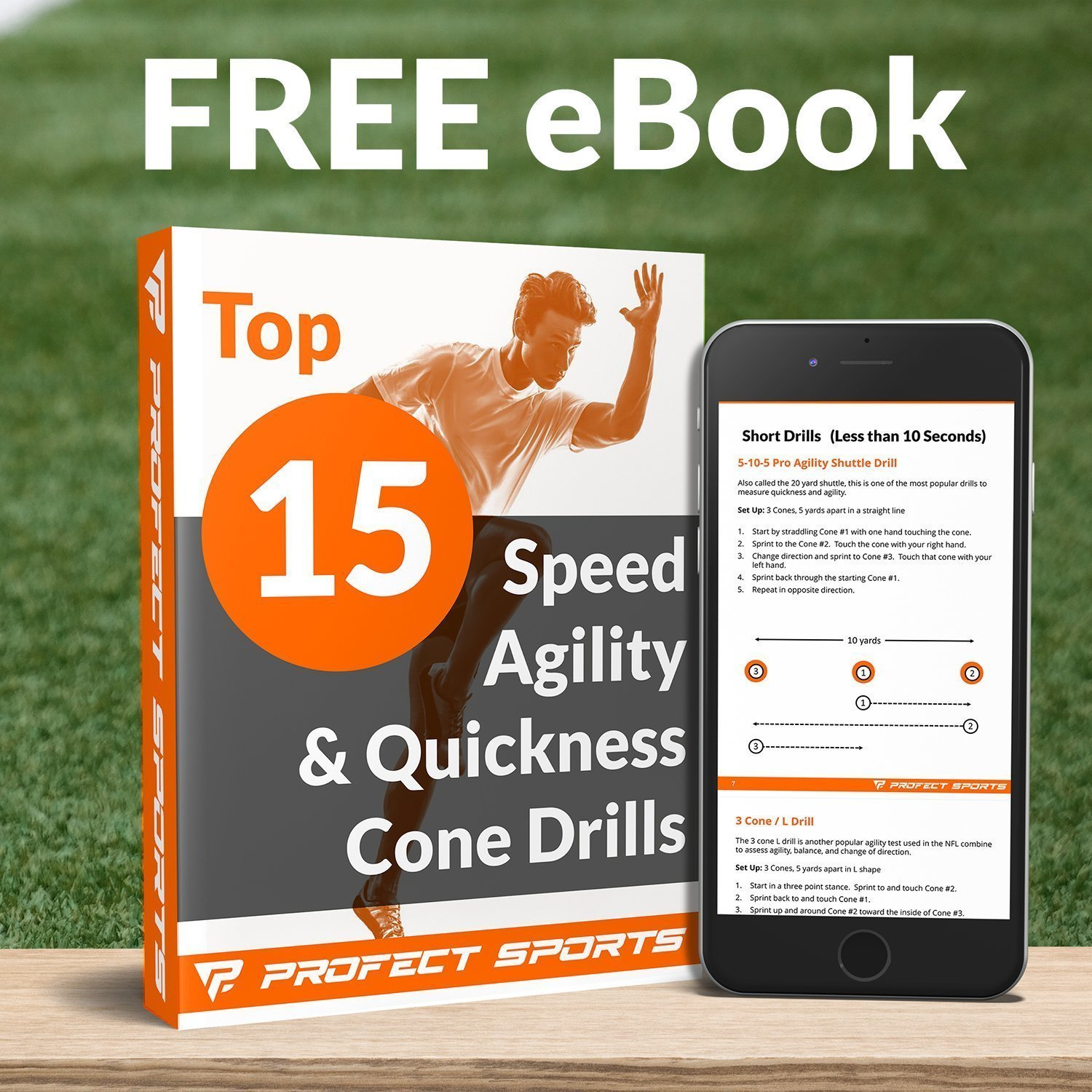 Pro Disc Cones (Set of 50) - Agility Soccer Cones with Carry Bag and Holder for Training, Football, Kids, Sports, Field Cone Markers - Includes Top 15 Drills eBook (Bright Orange) by Profect Sports (Image #5)