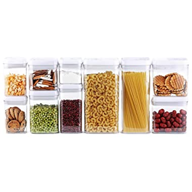 DRAGONN 10-Piece Airtight Food Storage Container Set, Pantry Storage Made Easy! - Keeps Food Fresh & Dry - Durable Plastic - Big Sizes included - BPA-Free