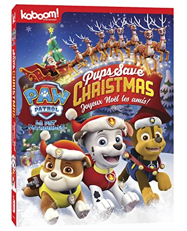 Paw Patrol: Pups Save Christmas DVD Cover
