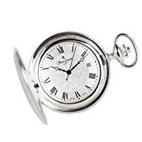 Swiss Made Solid Sterling Silver Quartz Pocket Watch 5304