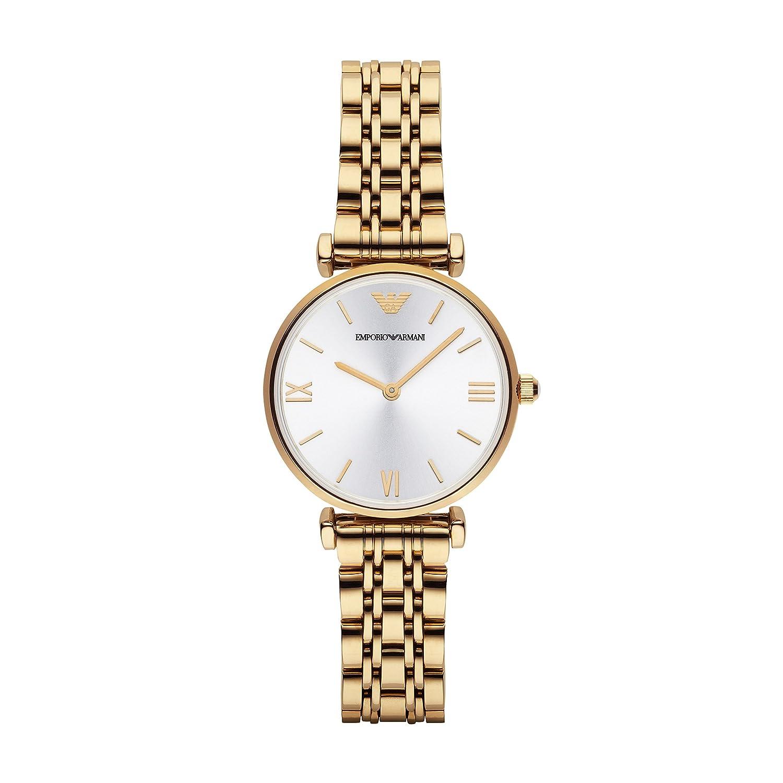 Amazon.com: Emporio Armani Womens AR1877 Retro Gold Watch ...