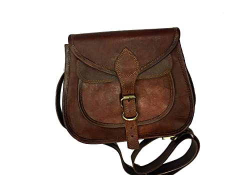 Buy AURA CREATIONS Unisex Leather Handbag (Brown) Online at Low Prices in  India - Amazon.in f4659b69c095e