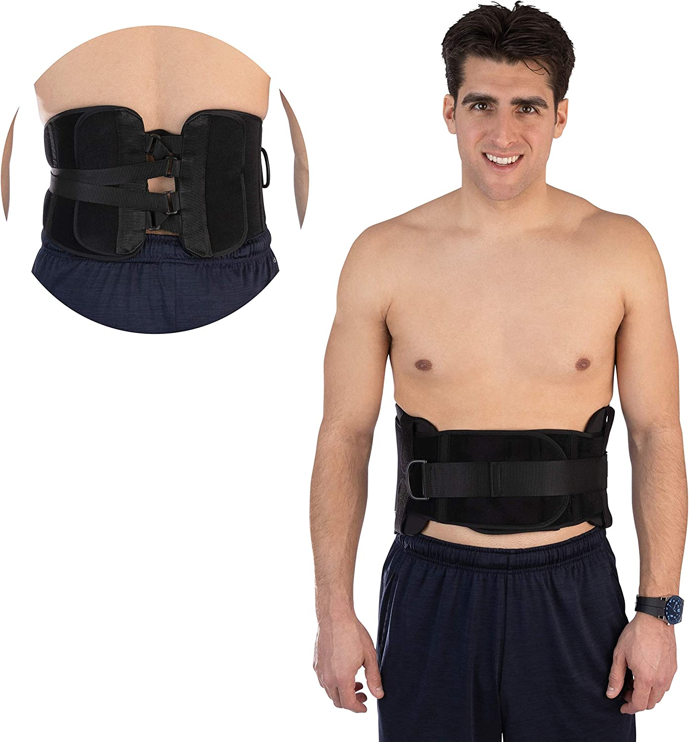 BH SUPPLIES Back Brace Lumbar Support Compression Belt for Lower Back Pain for Men and Women