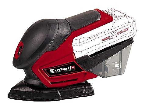 Einhell 4460713 Lijadora Multi TE-OS 18 li, 0 W, 18 V, Rojo, Sin Batería