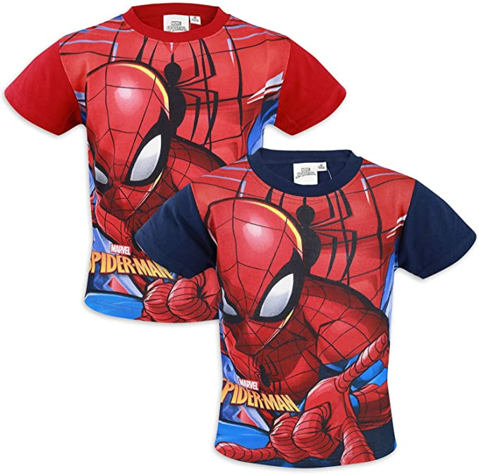 Marvel Avengers Spiderman – Camiseta de manga corta – Niño – Algodón rojo 6 Años: Amazon.es: Ropa y accesorios
