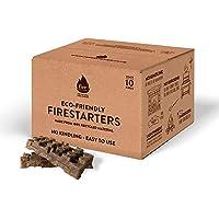 Firebuilder – ECO Natural Fire lighter (NO Kindling Required). It Lights a Faster Fuller Fire, BBQ, Wood Burners or Firepit Everytime. No Mess; No Kerosene = No Odour