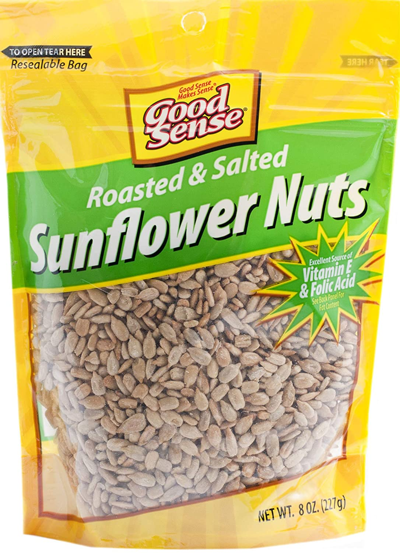 Good Sense | Sunflower Nuts | Roasted and Salted Sunflower Seeds (Shelled) - 96 Ounces (96 OZ) | 12 - 8 Ounce (8 OZ) Bags