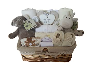 d3cfcb035028 Baby Gift Basket Neutral. Baby Gift Hamper Neutral. Baby Gift Set Neutral.  Baby
