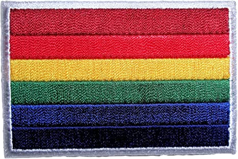 Made with Leather Patch Leather Pride Flag Patch Applique for Vest or jacket