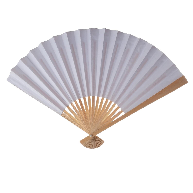 Amazon.com: Koyal Wholesale Paper Fans Bulk, Turquoise 50-Pack DIY ...