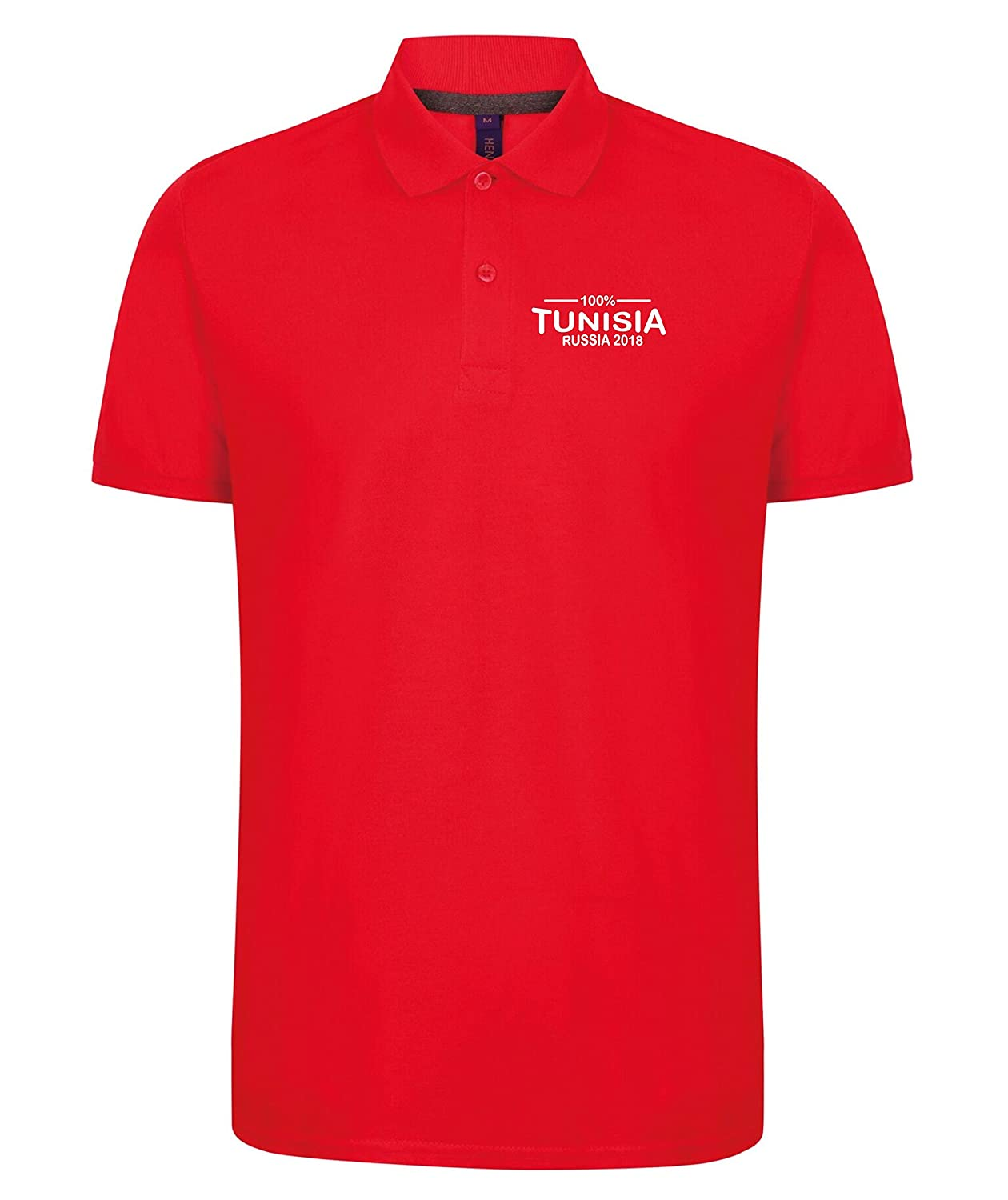 02a0c8c59e0 Novelty Polo's 100% Tunisia Football World Cup 2018 Polo Mens Red:  Amazon.co.uk: Clothing