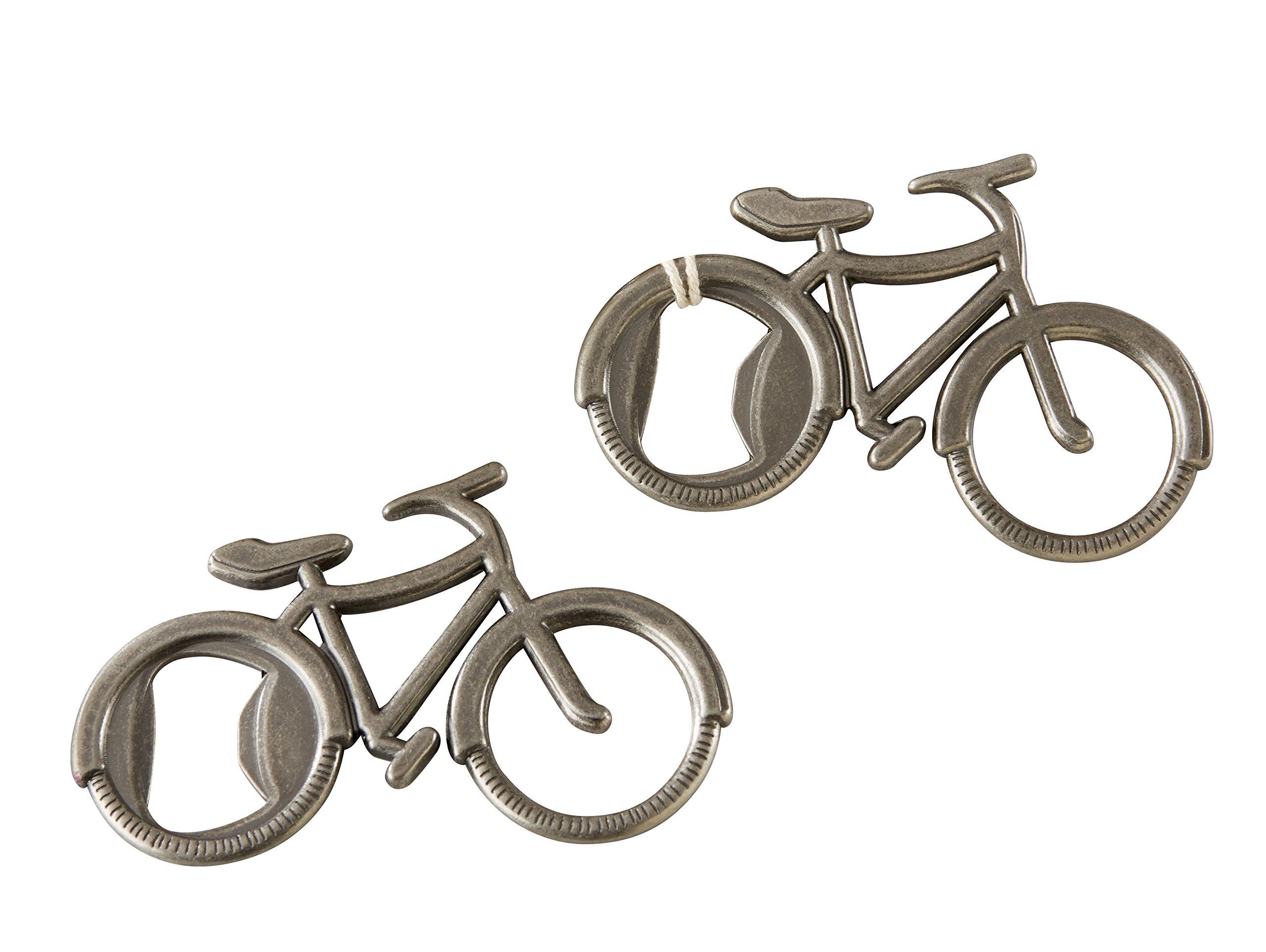 Kate Aspen Bicycle Bottle Opener 12, bundle, Silver