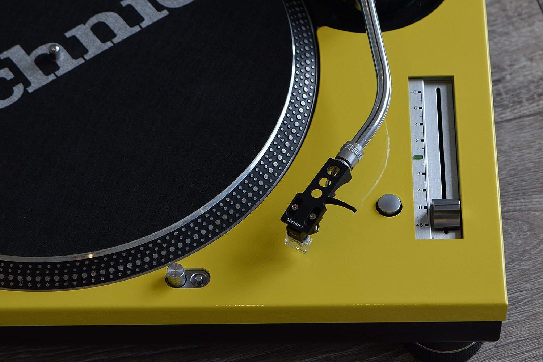 Amazon.com: Technics amarillo cara placa para uso con SL1200 ...