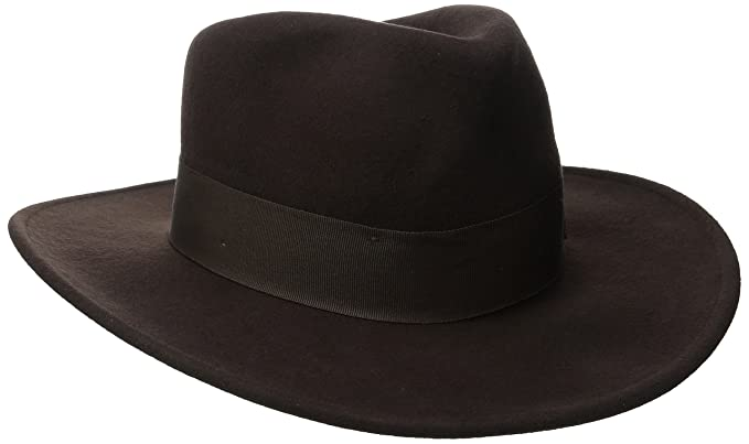 Indiana Jones Men s Crushable Wool Felt Fedora Brown  Amazon.ca ... a265b75e844
