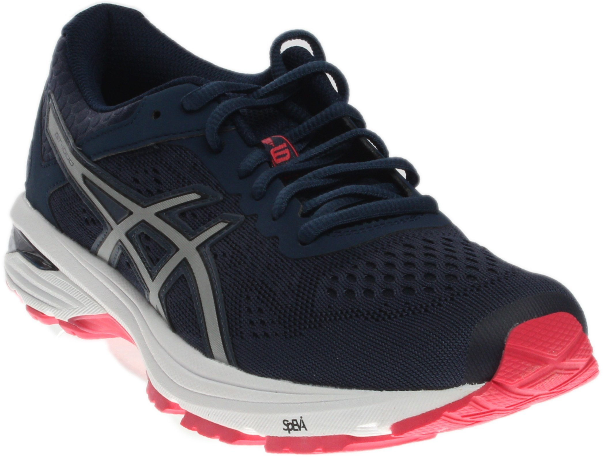 ASICS GT-1000 6 Running Shoes - Insignia Blue/Silver/Rouge Red - Womens - 6.5