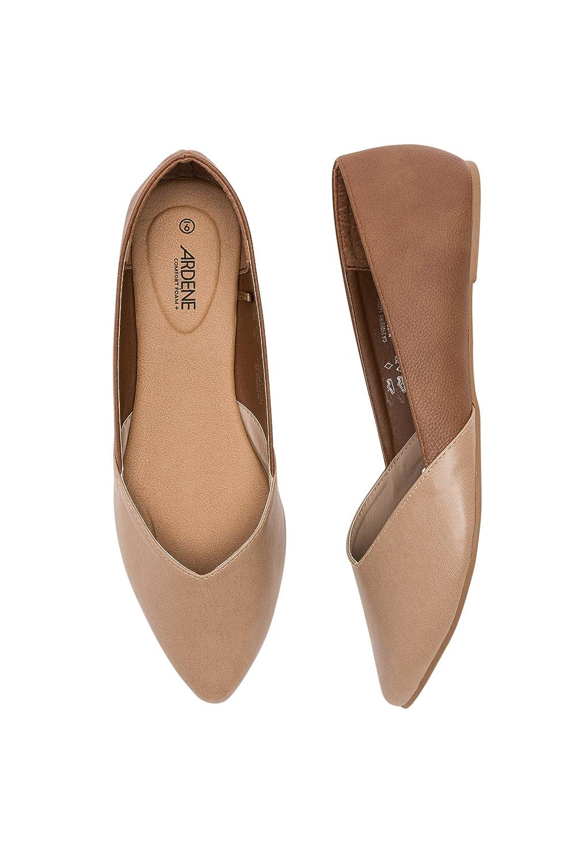 Ardene Women's - Two-Tone Faux Leather Flats B07C2YPKGW Parent