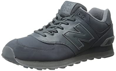 new balance men's 574 black and grey