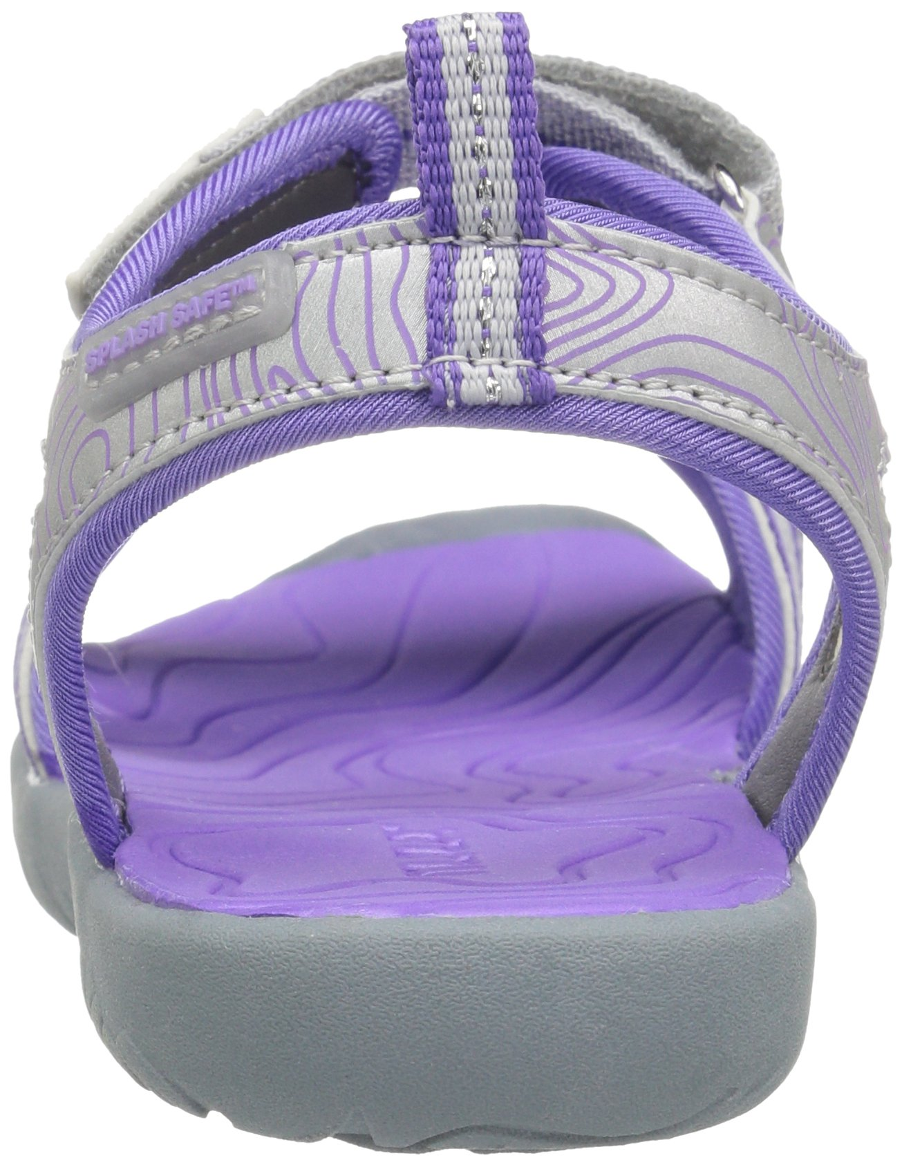 M.A.P. Lorna Girl's Outdoor Sandal, Silver/Purple, 2 M US Little Kid by M.A.P. (Image #2)