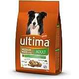 Ultima Croquettes pour Chien Medium-Maxi Adulte Poulet, Riz, Légumes et Fruits 2 kg