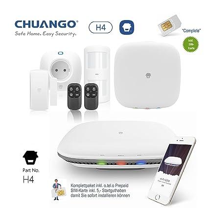 Chuango G4 - 433 Cöound Alarma, paquete completo con tarjeta ...