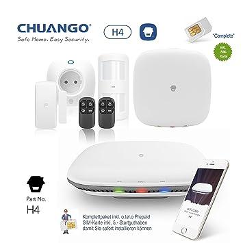 Chuango G4 - 433 Cöound Alarma, paquete completo con tarjeta SIM ...
