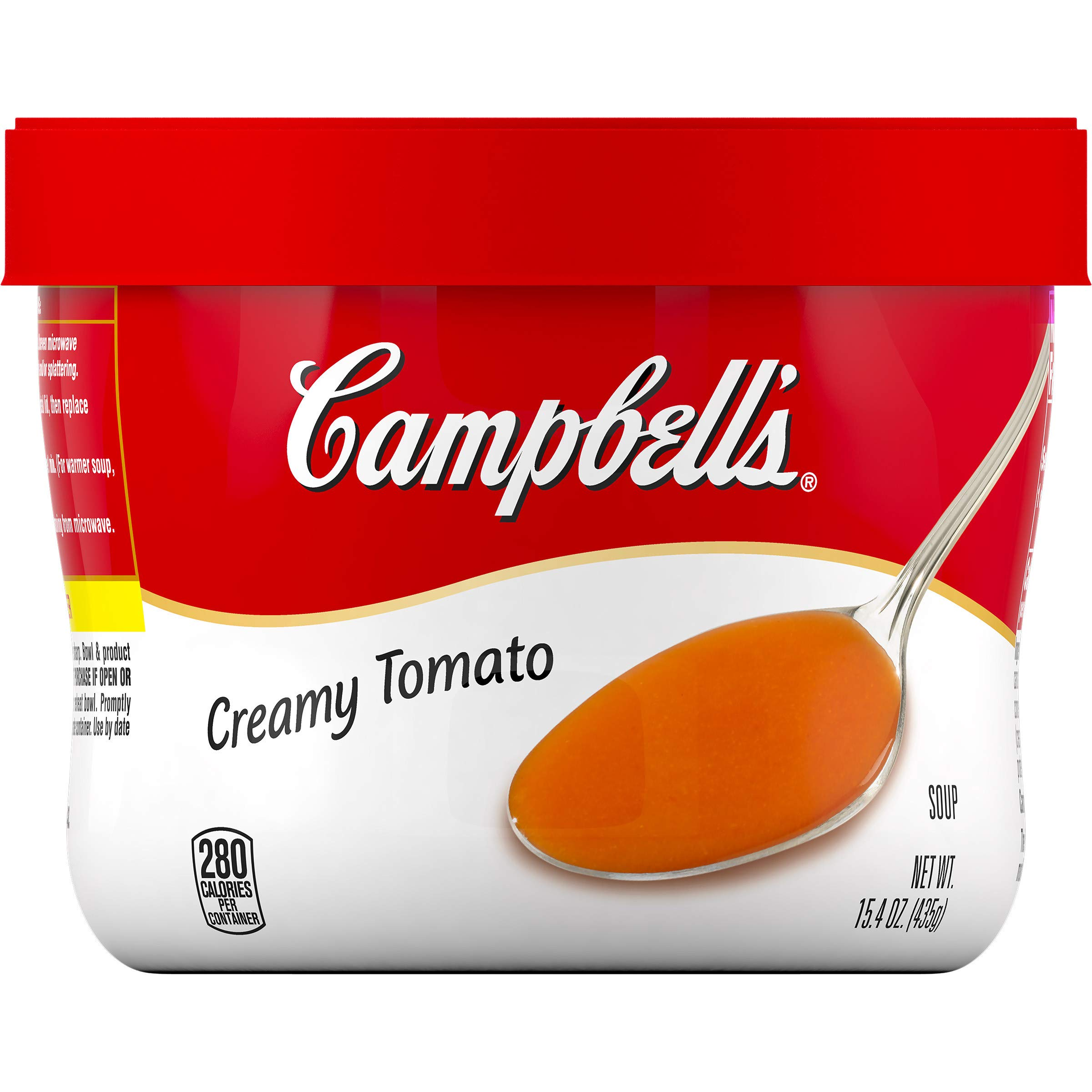 Campbell's Creamy Tomato Soup, Microwaveable Bowl, 15.4 oz by Campbell's