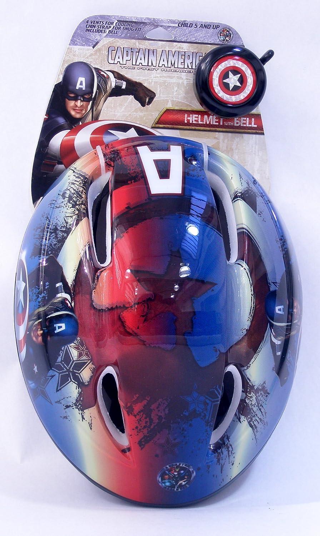 Capitán América niño Casco Combo Pack con Bell (Blanco/Rojo ...