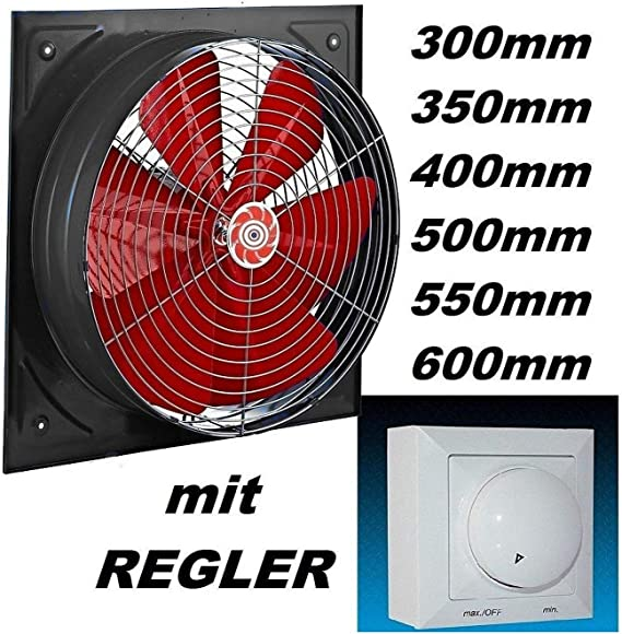 Uzman - Ventilador de pared industrial (450 mm, 500 W, regulador ...